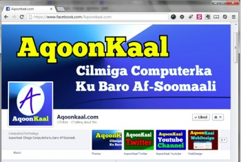 Facebook: https://www.facebook.com/Aqoonkaal.com
